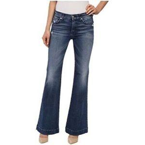 7 For All Mankind Dogo Grommet Flare Leg Jeans